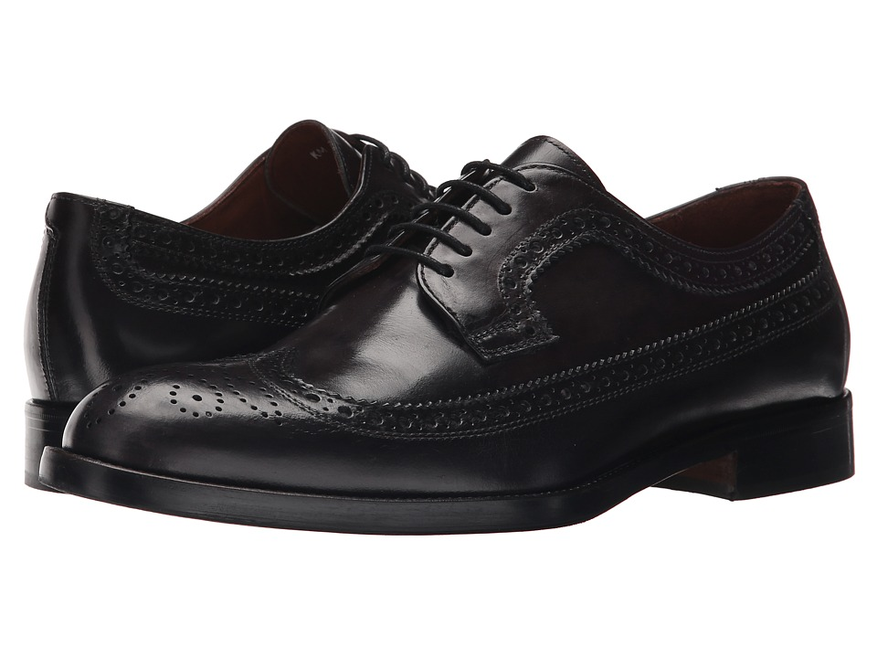 Kenneth Cole New York - Org-Anized (Dark Grey) Men's Lace Up Wing Tip Shoes