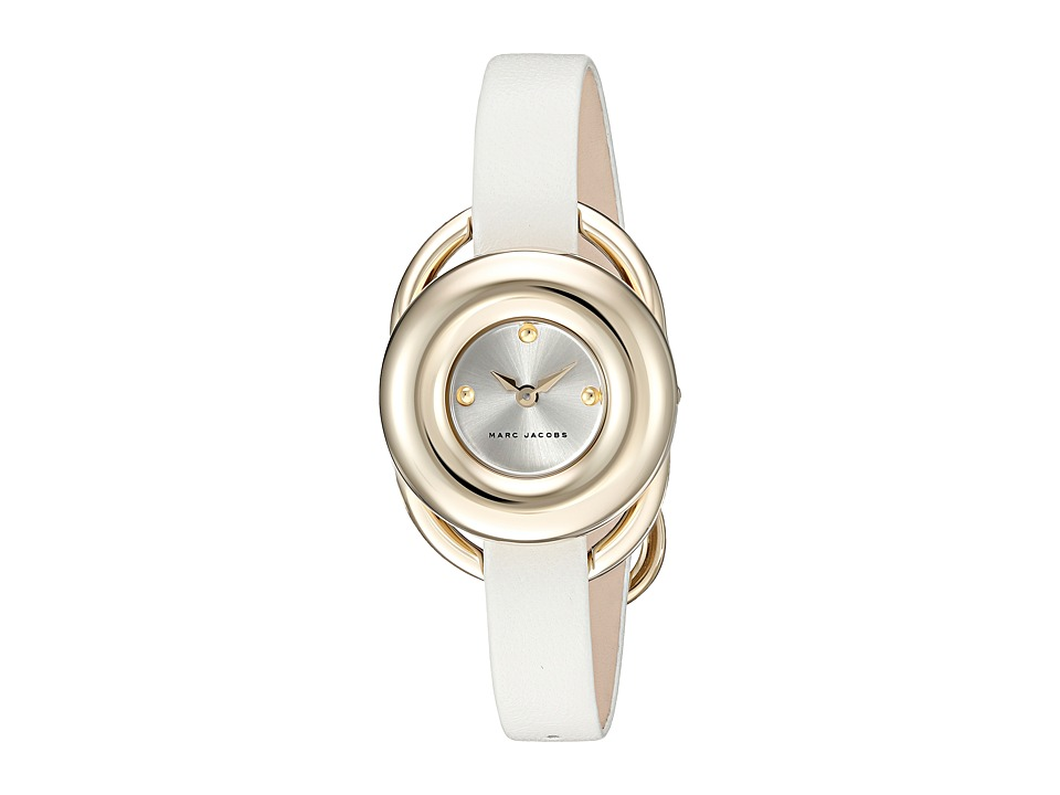 Marc Jacobs - Jerrie - MJ1446 (Gold Tone Case/White Strap) Watches