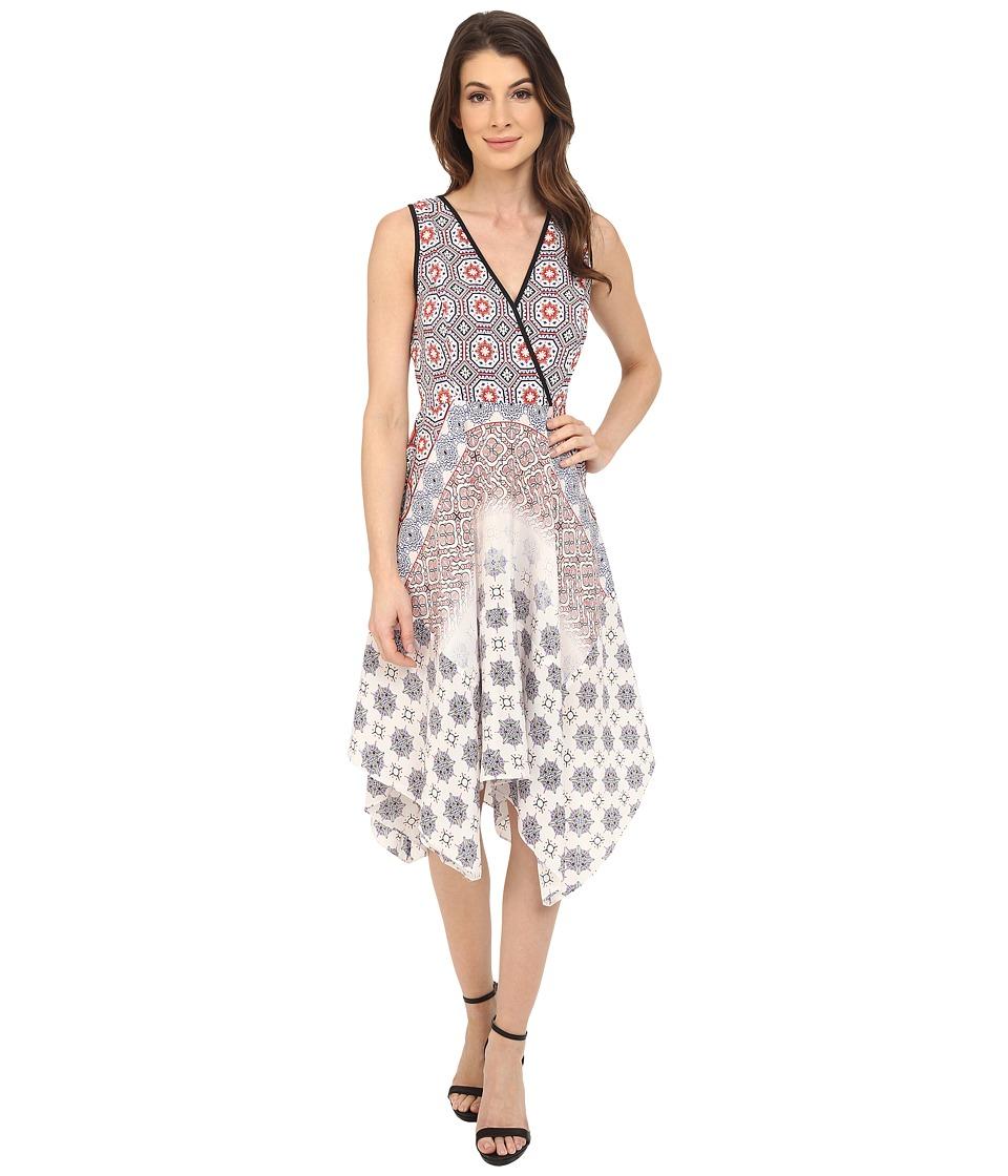 Shoshanna Emmy Dress (Coral Multi) Women