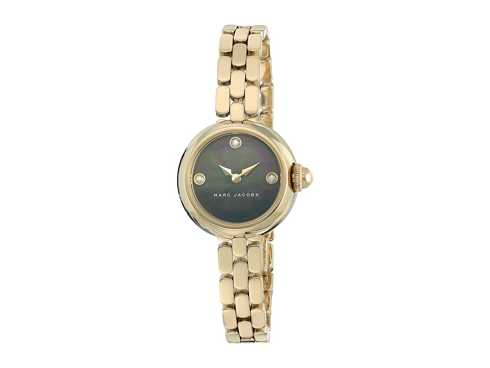 Marc Jacobs - Courtney - MJ3460 (Black Mother-of-Pearl Dial/Gold Tone) Watches