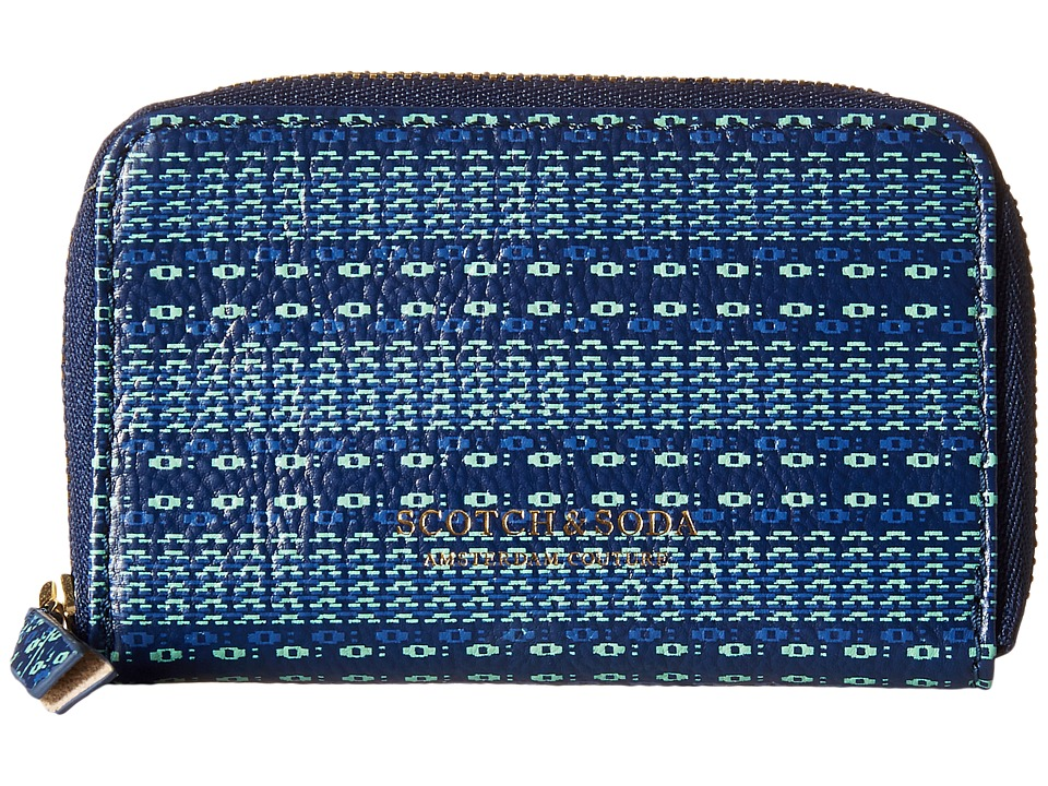 Scotch & Soda - Leather Coin Wallet (Blue) Wallet Handbags