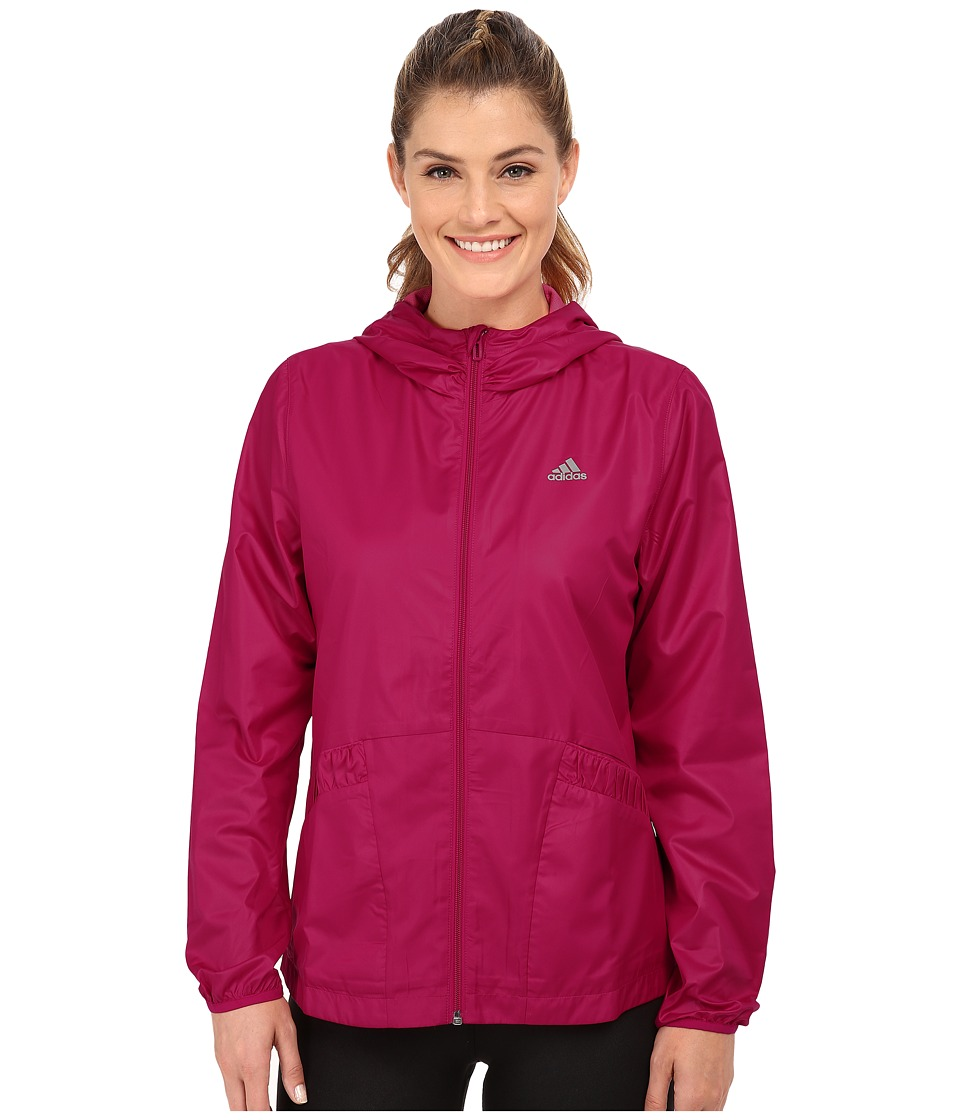 adidas - Wind Jacket (Bold Pink) Women's Workout