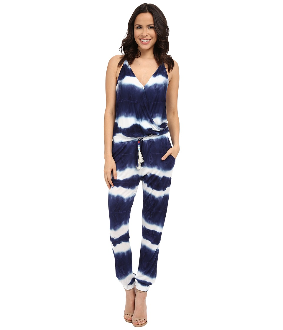 Young Fabulous & Broke - Kenzie Jumpsuit (Navy Shibori Stripe Wash) Women's Jumpsuit & Rompers One Piece