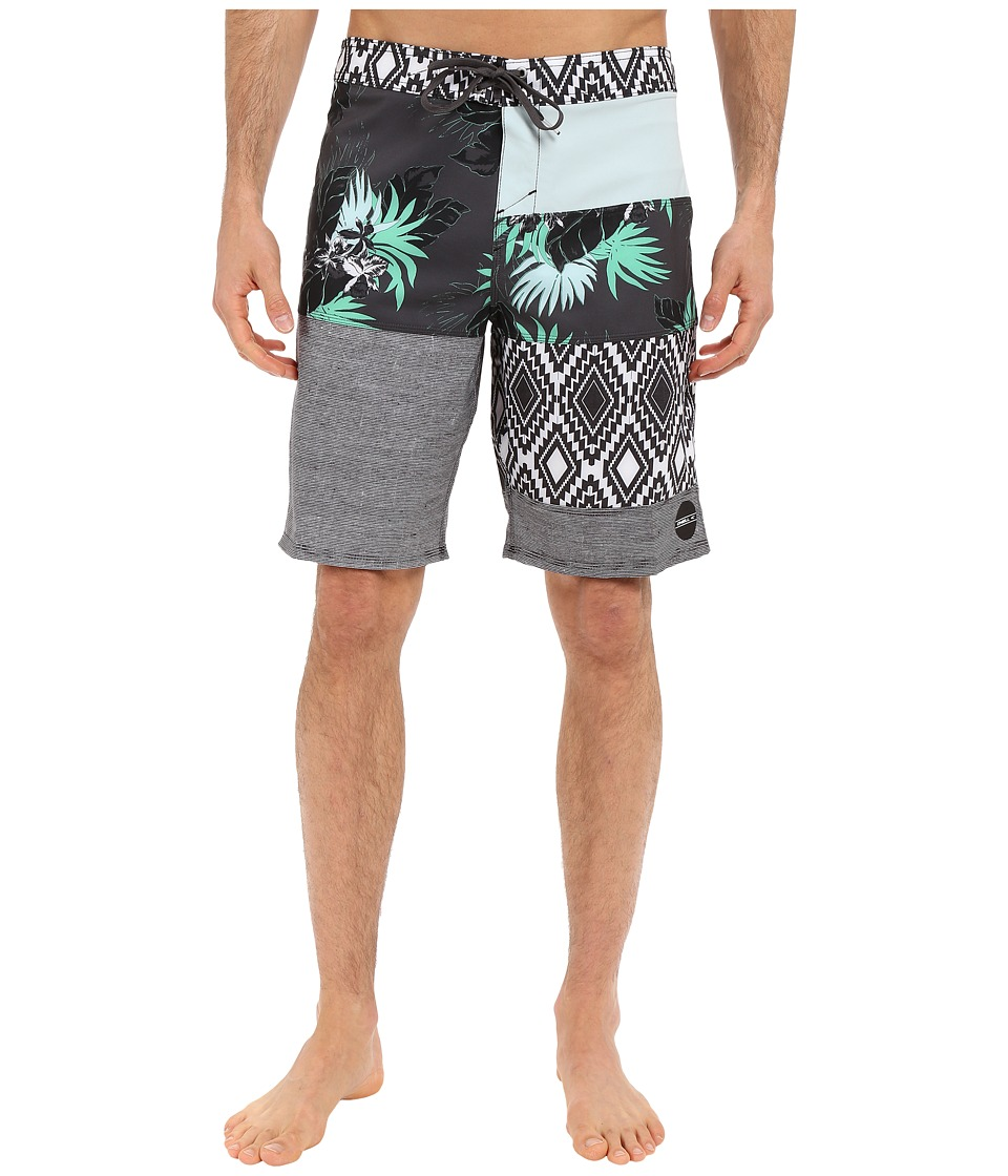 O'Neill - Hyperfreak Eclectic Boardshorts (Cement) Men's Swimwear