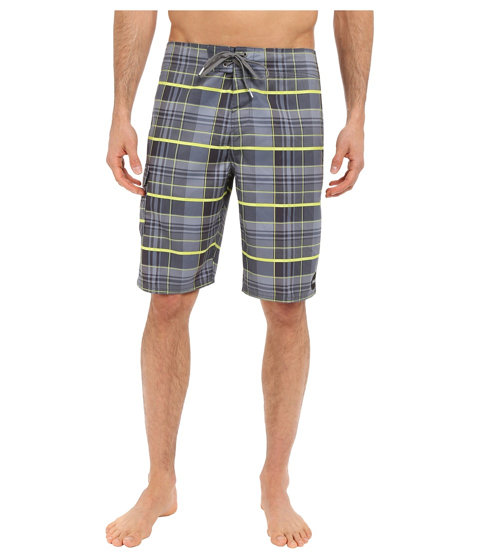 O'Neill - Santa Cruz Plaid Boardshorts (Lime) Men's Swimwear
