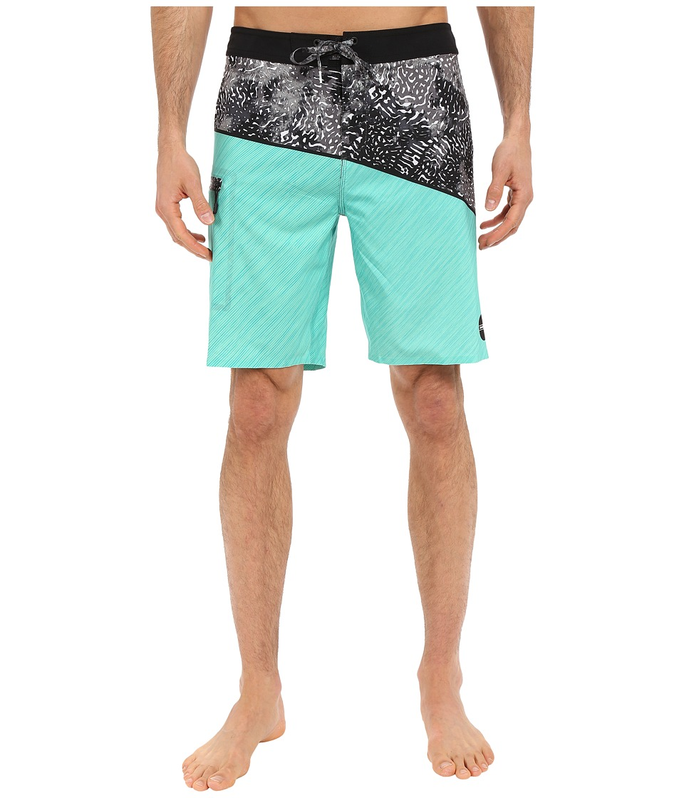 O'Neill - Hyperfreak Oblique Boardshorts (Mint) Men's Swimwear