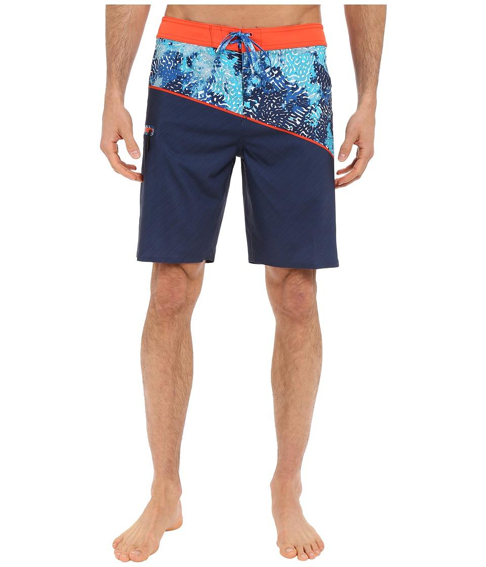 O'Neill - Hyperfreak Oblique Boardshorts (Neon Red) Men's Swimwear