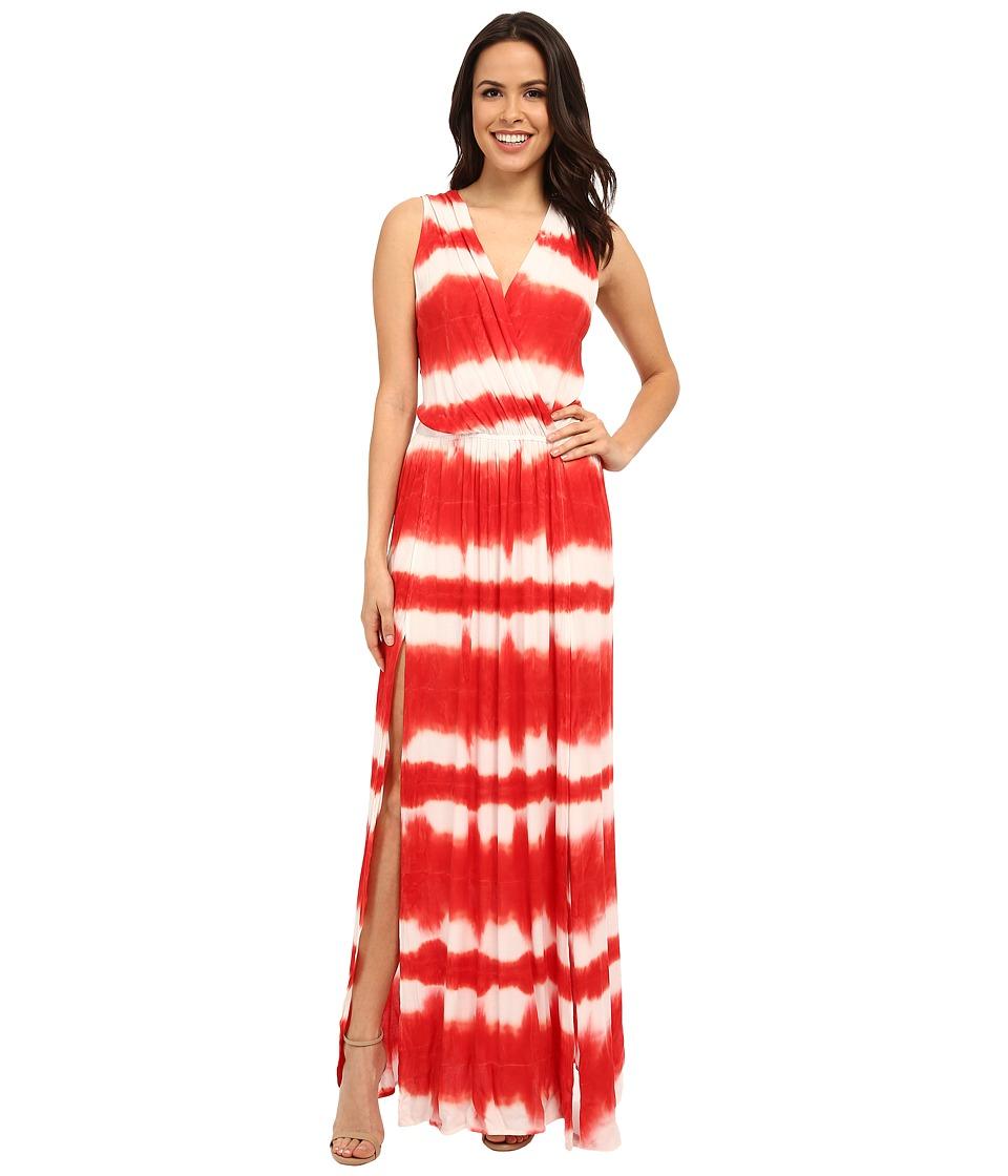 Young Fabulous & Broke - Noel Maxi (Papaya Shibori Stripe Wash) Women's Dress
