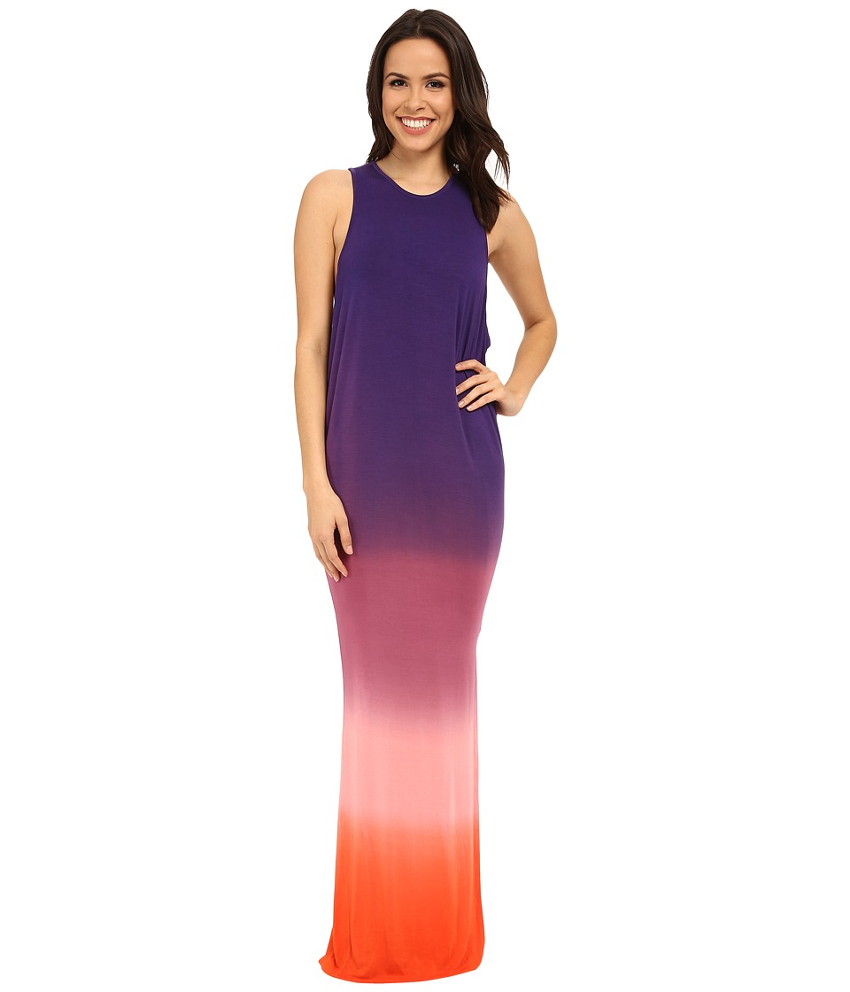 Young Fabulous & Broke - Samantha Maxi (Purple Ombre) Women's Clothing