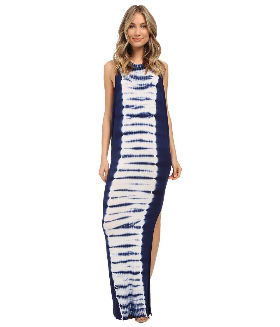 Young Fabulous & Broke - Samantha Maxi (Navy Alligator Border Wash) Women's Clothing