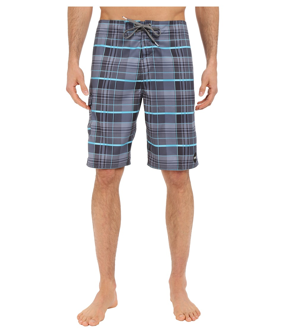 O'Neill - Santa Cruz Plaid Boardshorts (Turquoise) Men's Swimwear