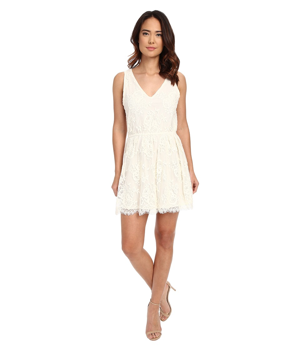 BB Dakota - Ariella Scallop Edge Lace Dress (Vanilla) Women's Dress