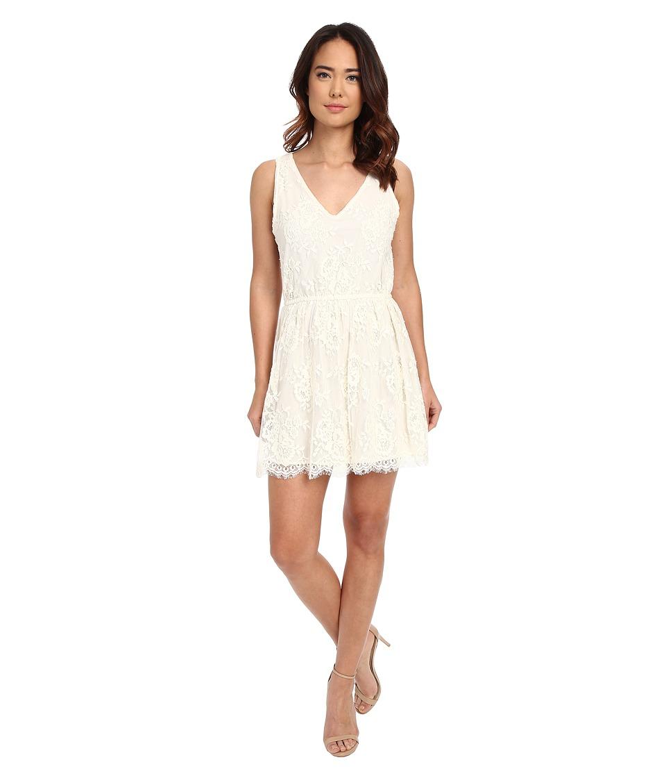 BB Dakota - Ariella Scallop Edge Lace Dress (Vanilla) Women's Dress