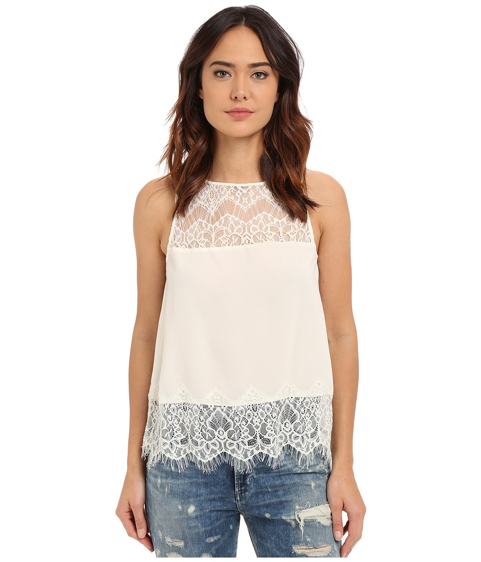 BB Dakota - Eunice Crepe De Chine Lace Top (Vanilla) Women's Blouse