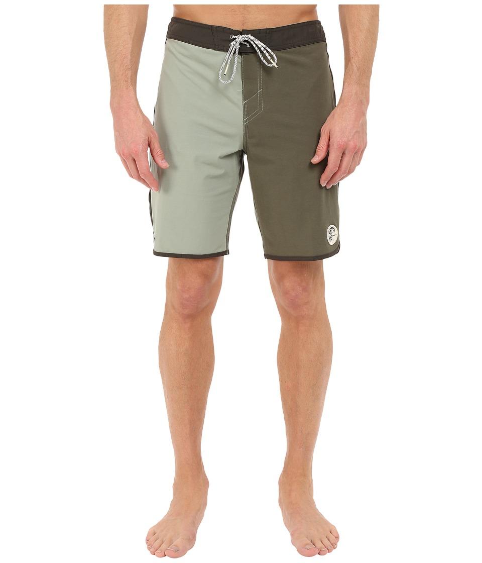 O'Neill - Retrofreak Scallop Boardshorts (Army Green) Men's Swimwear