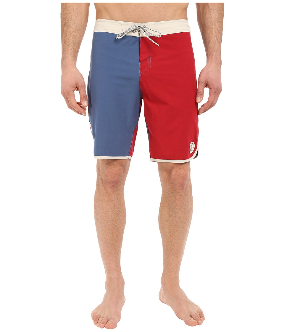 O'Neill - Retrofreak Scallop Boardshorts (Blue) Men's Swimwear