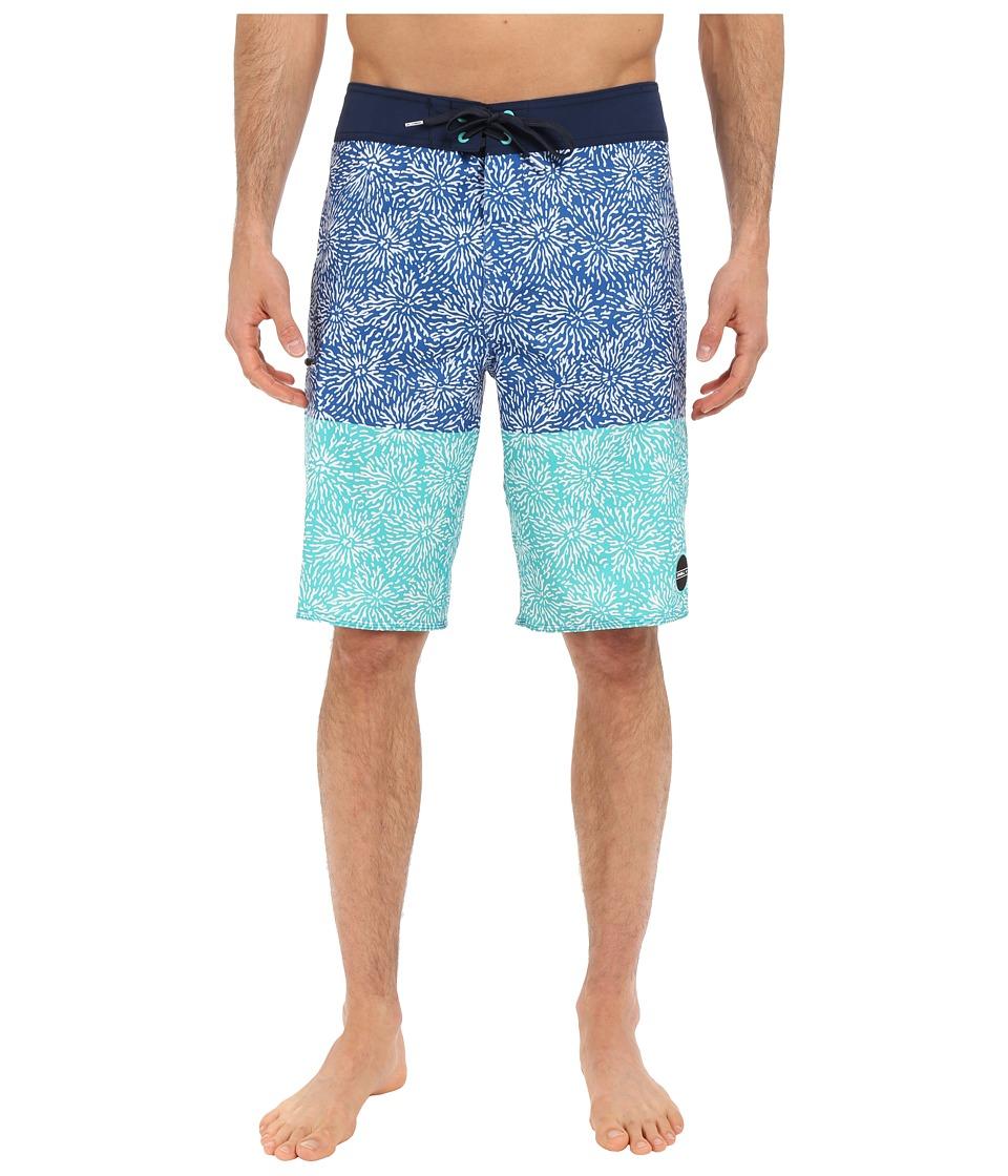 O'Neill - Hyperfreak Coral Boardshorts (Bright Blue) Men's Swimwear