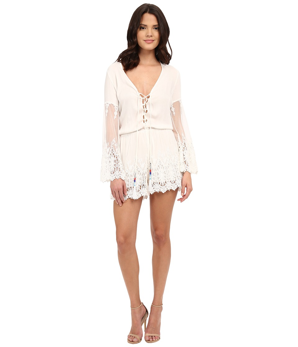 Young Fabulous & Broke - Kris Romper (White) Women's Jumpsuit & Rompers One Piece