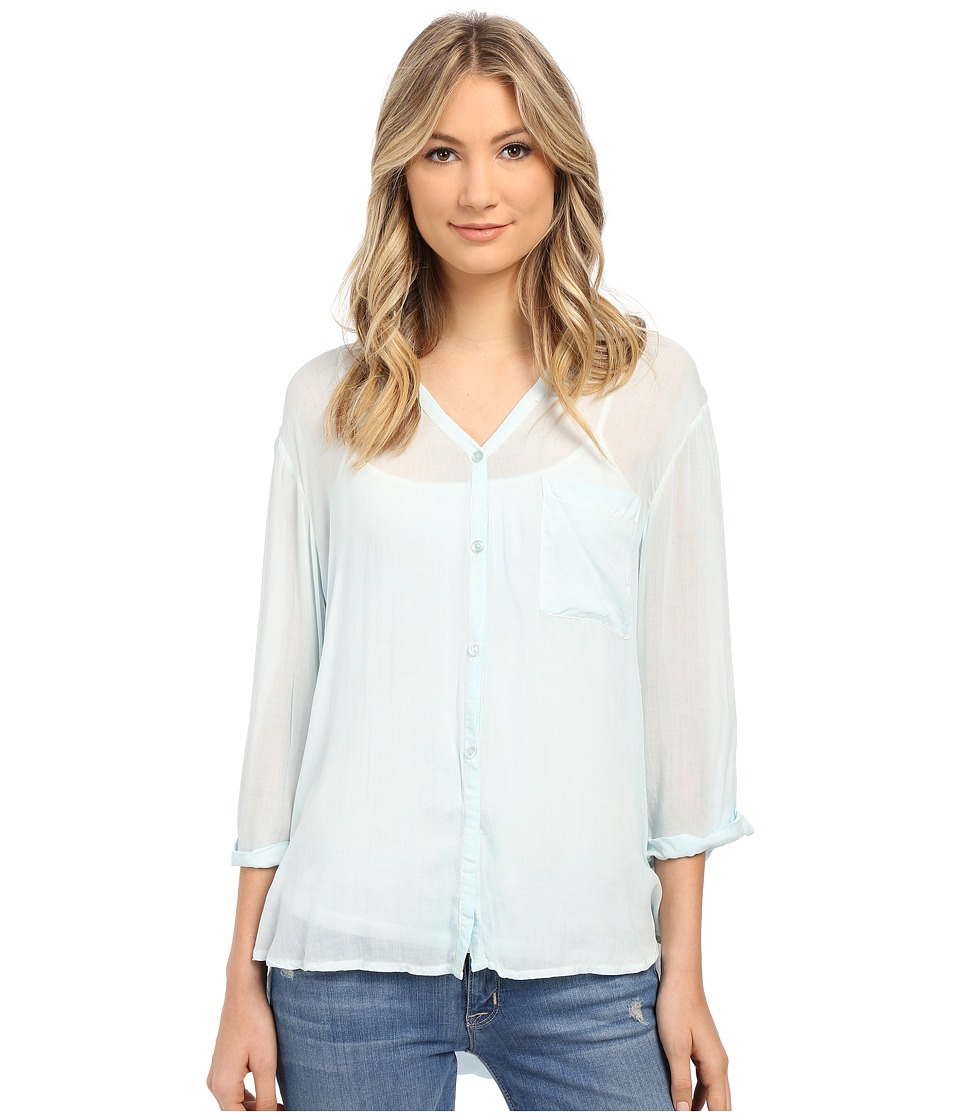 Young Fabulous & Broke - Nonnie Top (Blue Mint) Women's Clothing