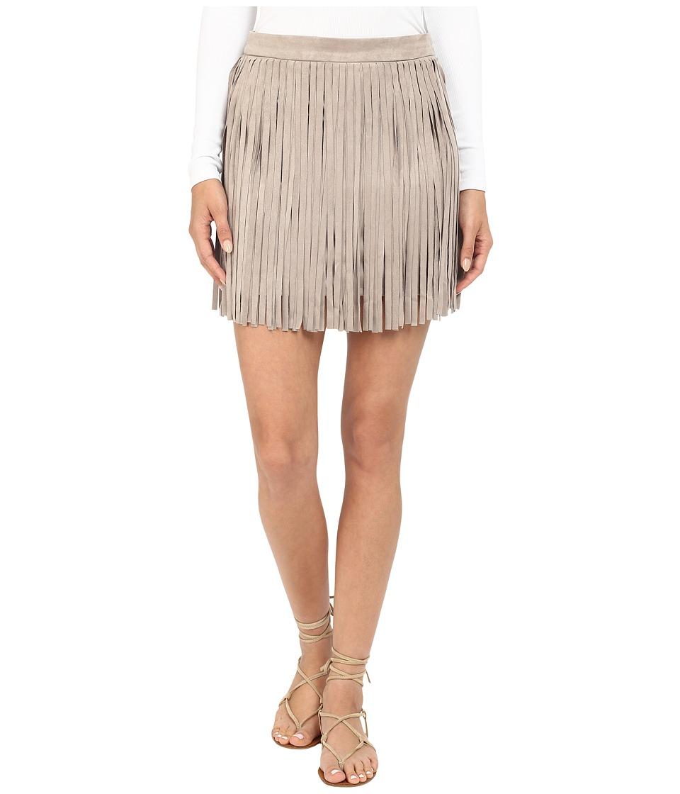 BB Dakota - Pearl Gaux Suede Fringe Skirt (Toffee) Women's Skirt