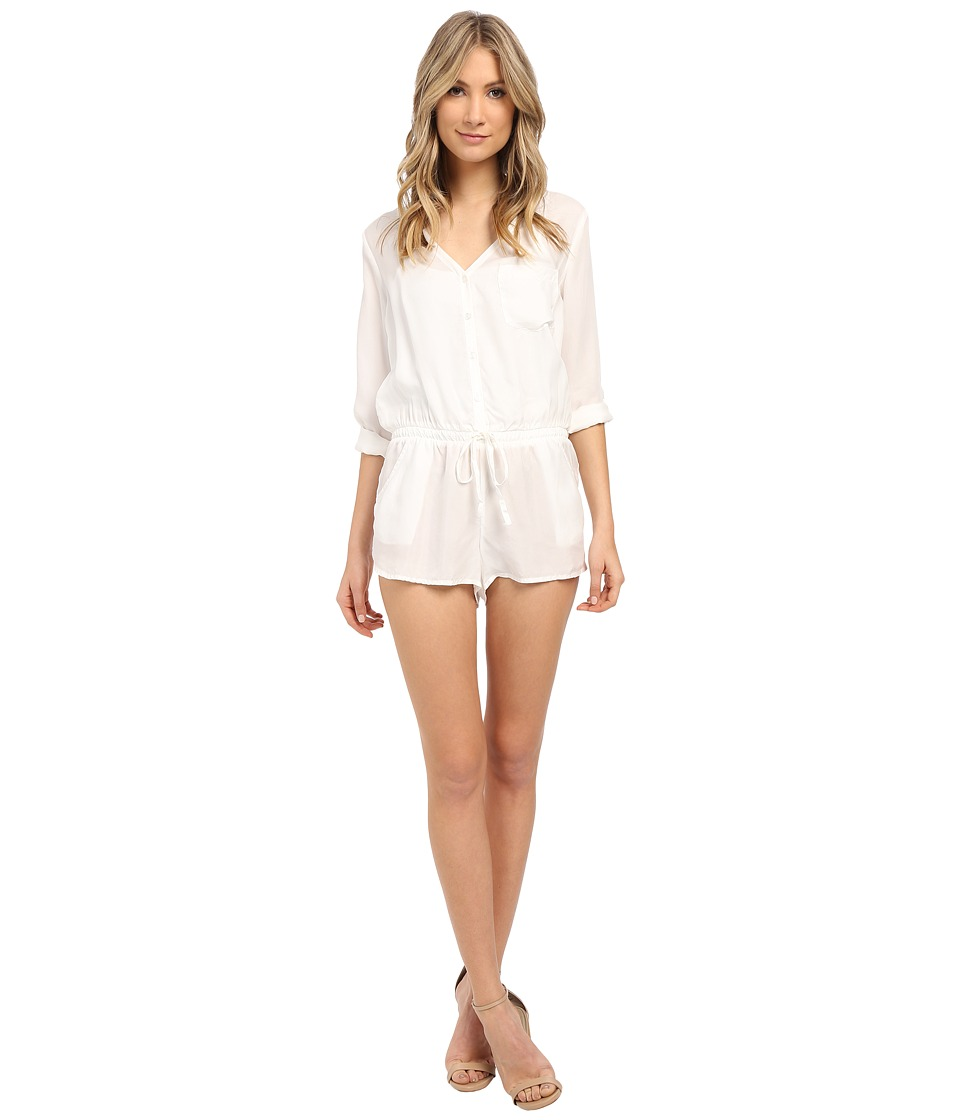 Young Fabulous & Broke - Flynn Romper (White) Women's Jumpsuit & Rompers One Piece