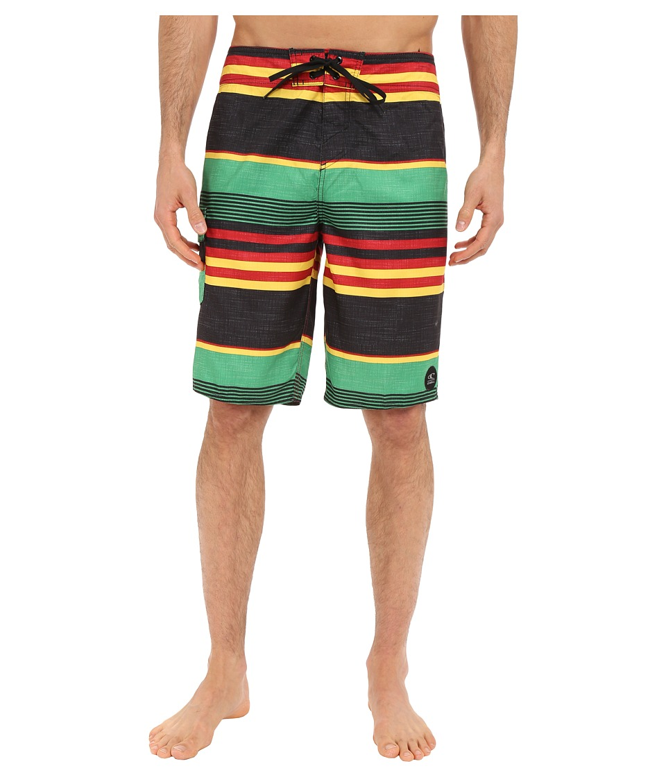 O'Neill - Santa Cruz Stripe Boardshorts (Rasta) Men's Swimwear