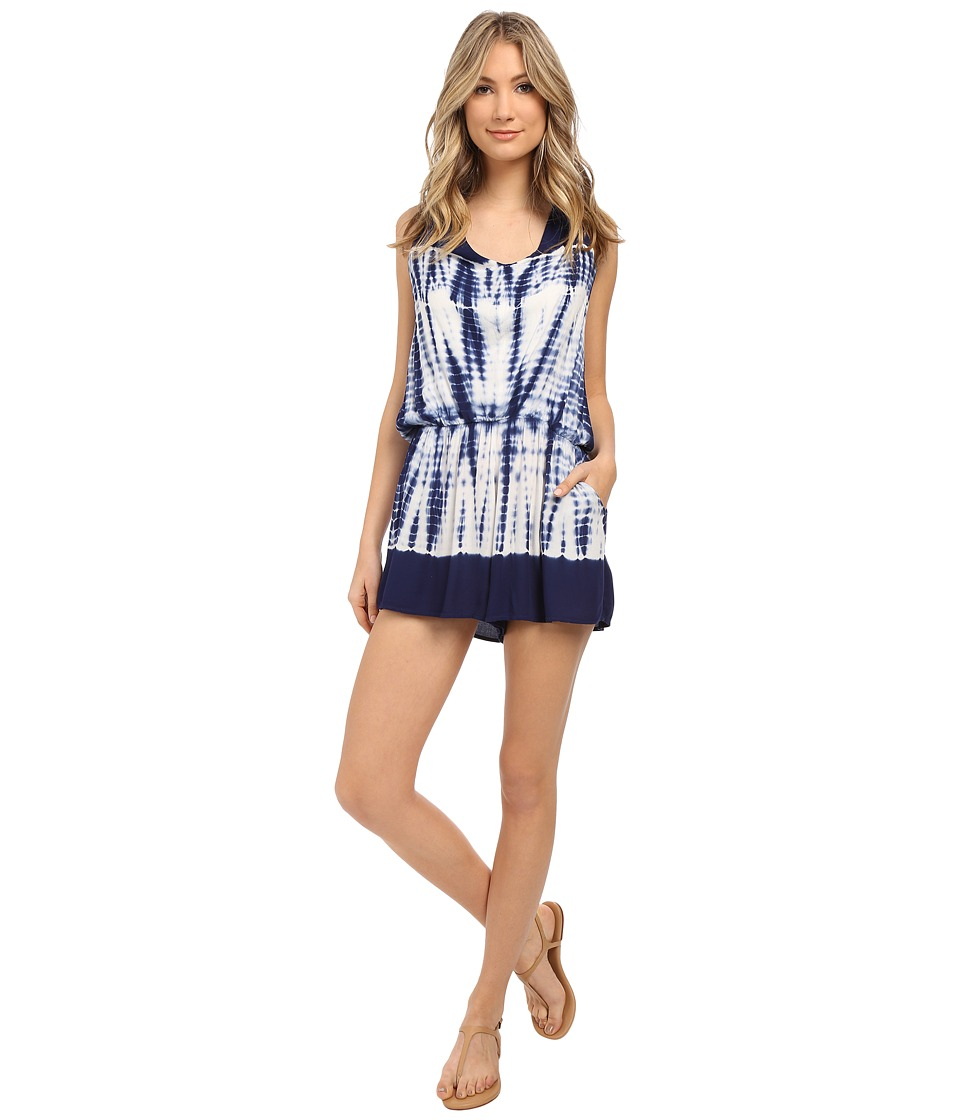 Young Fabulous & Broke - Lark Romper (Navy Alligator Border Wash) Women's Jumpsuit & Rompers One Piece