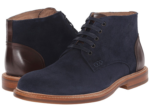 Kenneth Cole New York - Bud-Dy (Navy) Men's Lace-up Boots