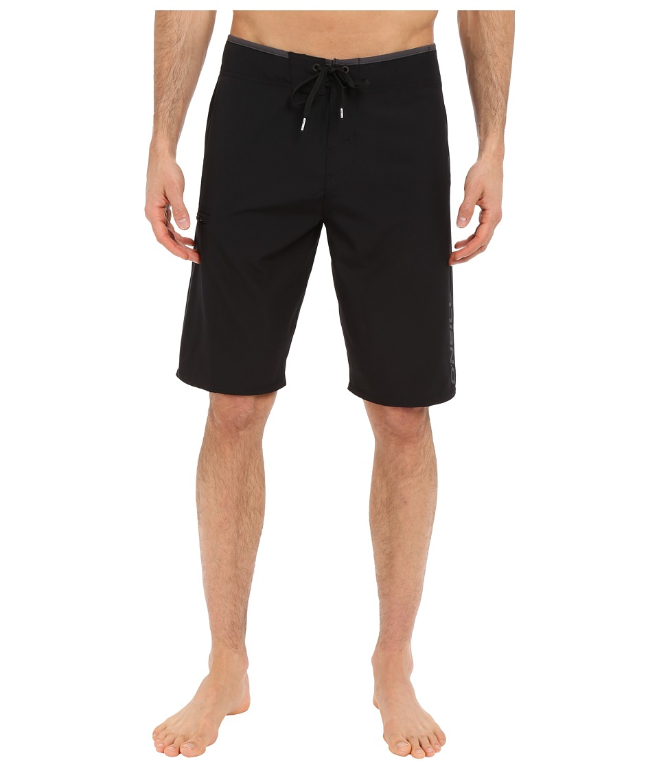 O'Neill - Hyperfreak Solid Boardshorts (Black) Men's Swimwear