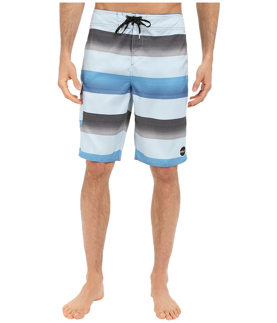 O'Neill - Santa Cruz Stripe Boardshorts (Bright Blue) Men's Swimwear