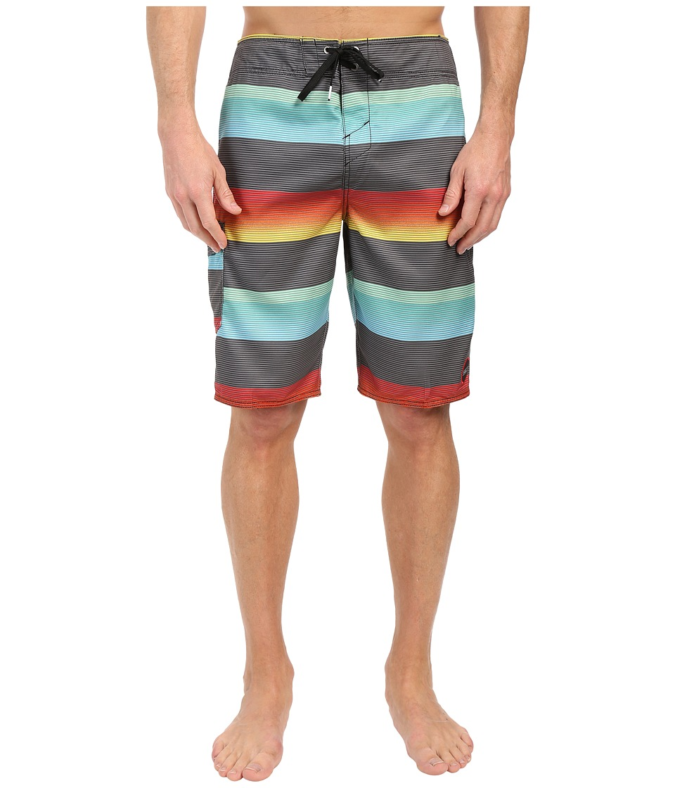 O'Neill - Santa Cruz Stripe Boardshorts (Asphalt) Men's Swimwear