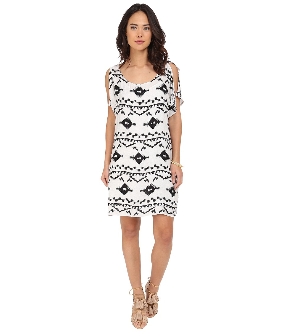 BB Dakota - Melody Symbol Printed Rayon Dress (Oatmeal) Women's Dress