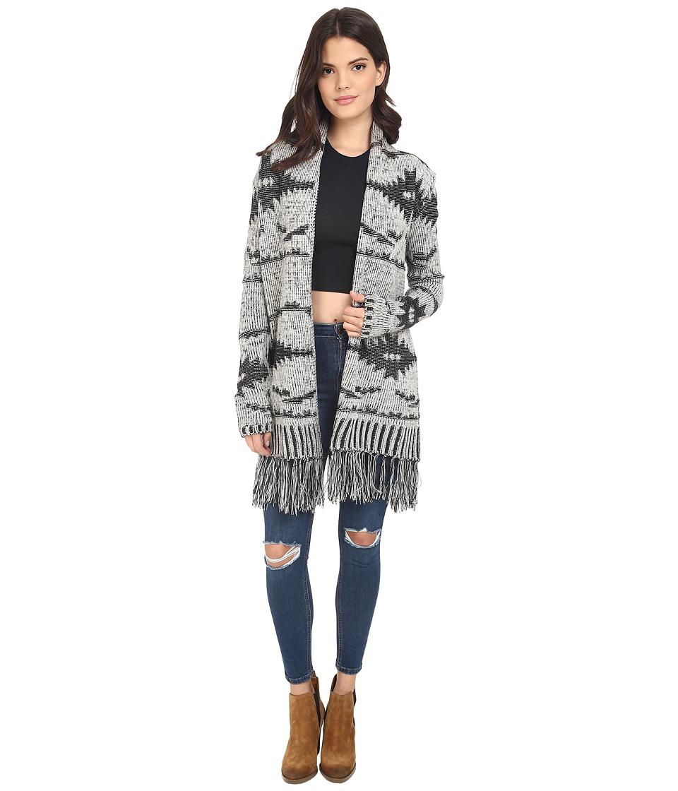 BB Dakota - Regina Patterned Cardigan (Oatmeal) Women's Sweater