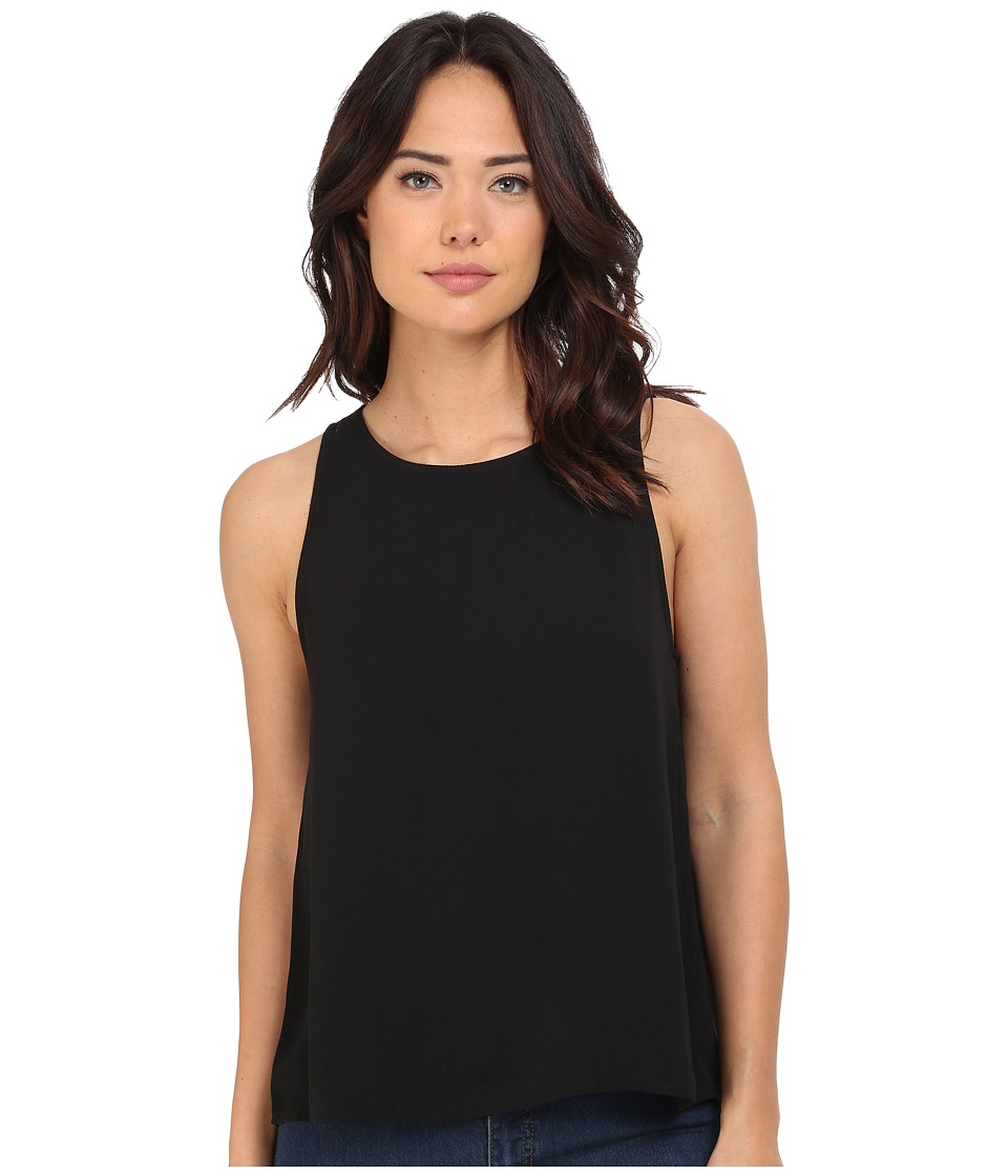 BB Dakota - Sariah Scallop Lace Back CEC Tank Top (Black) Women's Sleeveless
