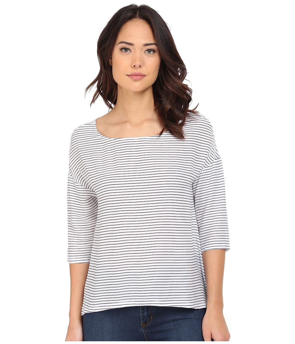 BB Dakota - Mikayla Stiped Rayon Twill Tee (Navy) Women's T Shirt