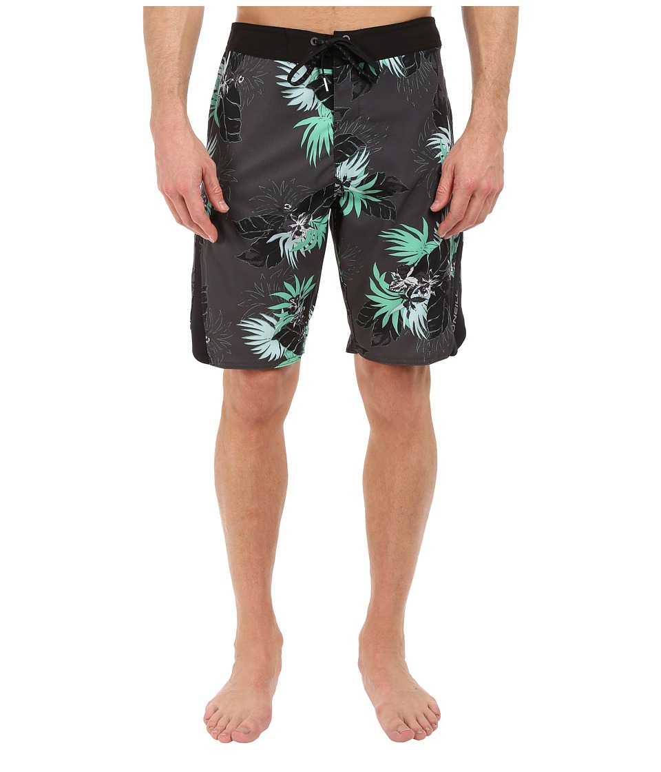 O'Neill - Superfreak Quad Boardshorts (Asphalt) Men's Swimwear