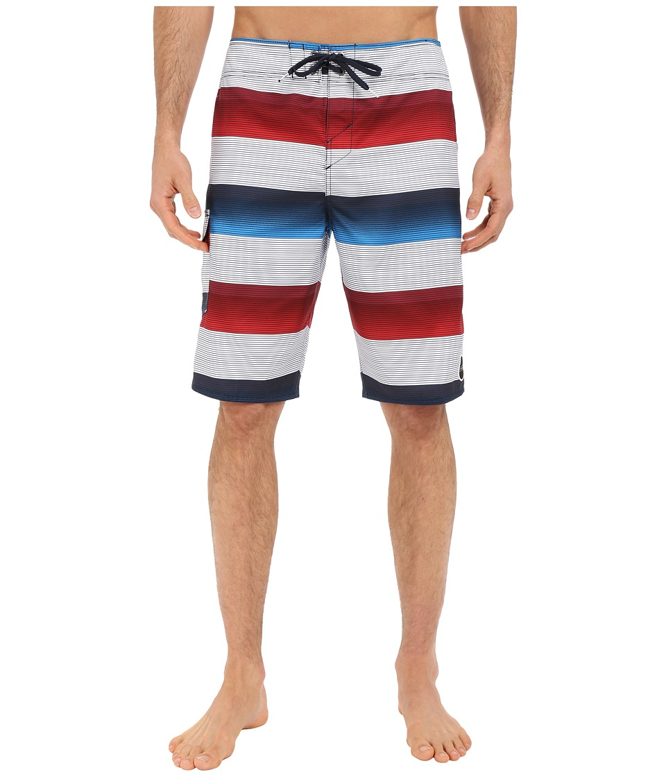 O'Neill - Santa Cruz Stripe Boardshorts (White) Men's Swimwear