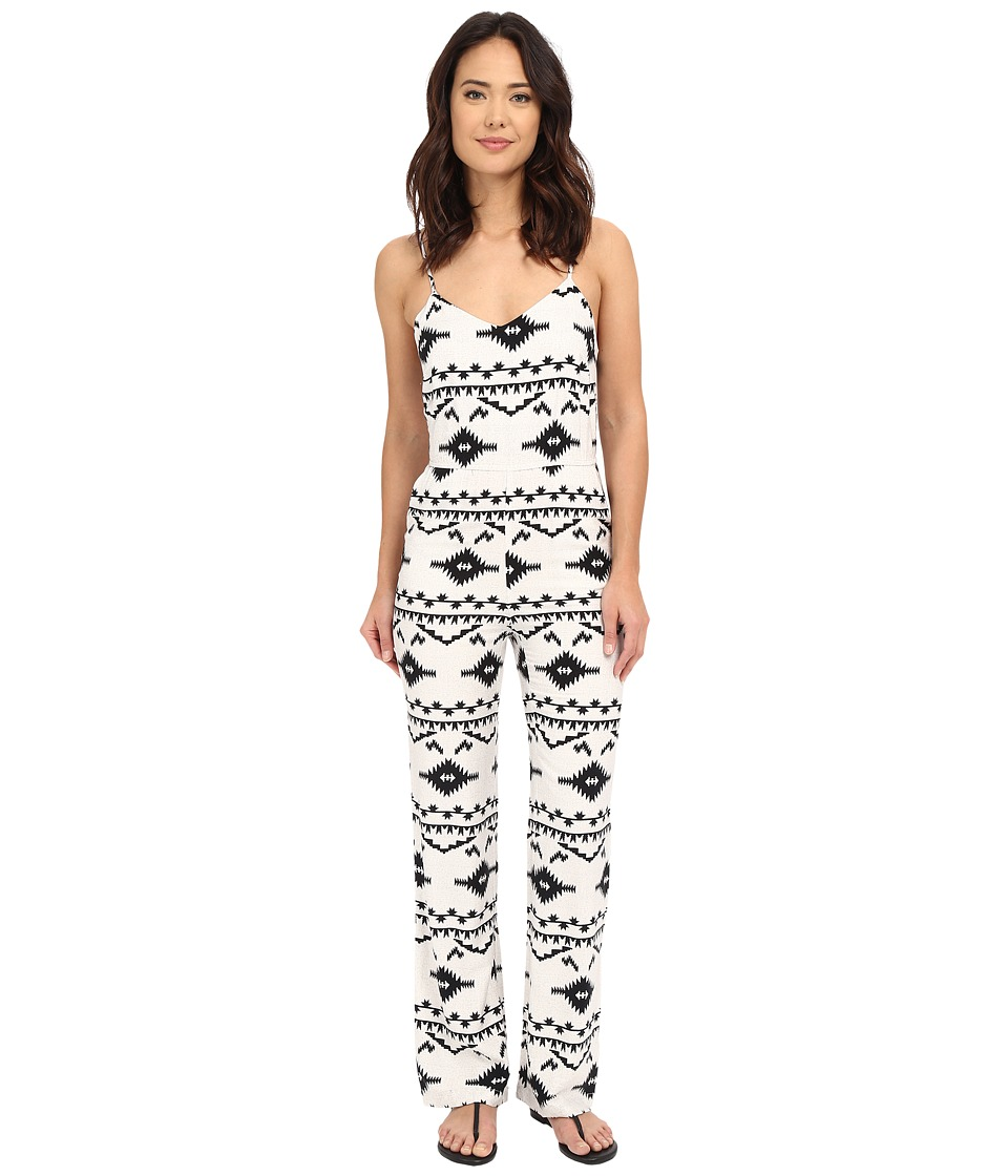 BB Dakota - Daphne Symbol Printed Heavy Rayon Bell Bottom Jumpsuit (Oatmeal) Women's Jumpsuit & Rompers One Piece