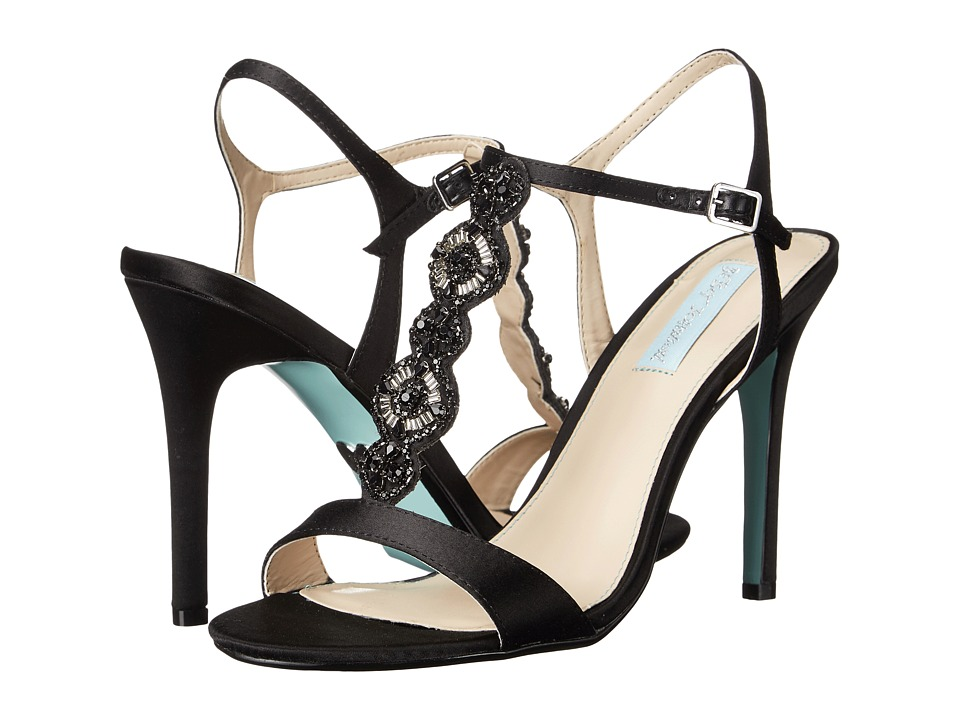 Blue by Betsey Johnson Chloe (Black Satin) High Heels