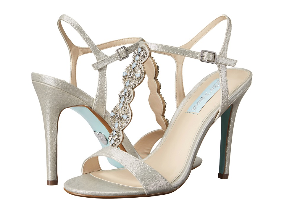 Blue by Betsey Johnson Chloe (Silver Fabric) High Heels