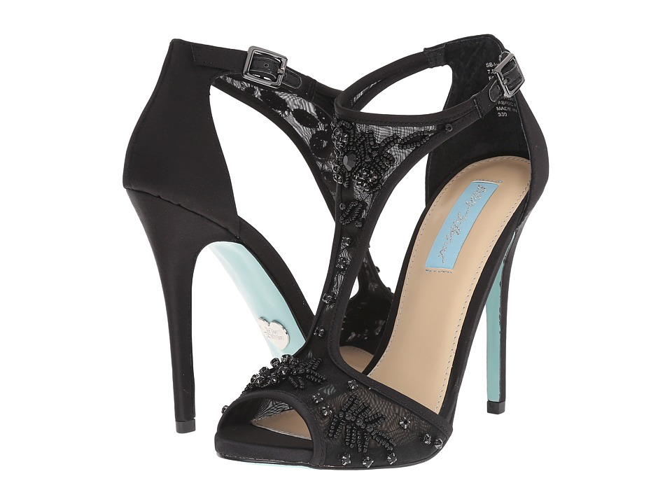 Blue by Betsey Johnson - Holly (Black Satin) High Heels