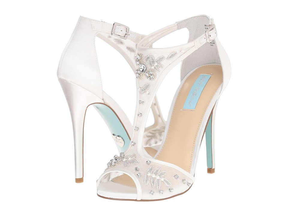 Blue by Betsey Johnson - Holly (Ivory Satin) High Heels