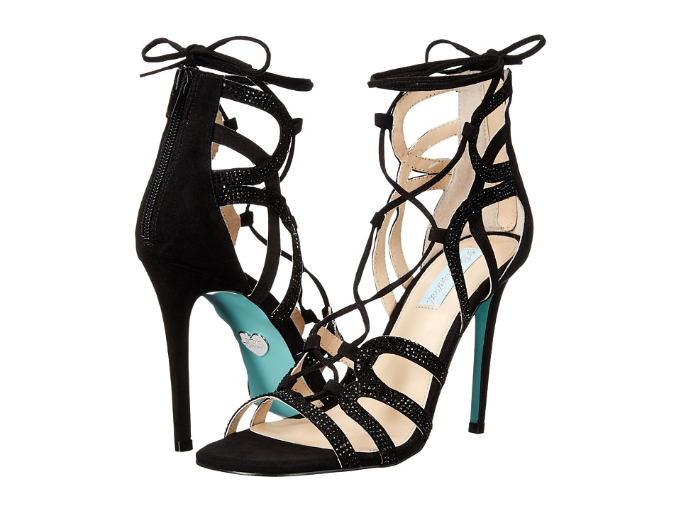 Blue by Betsey Johnson Celia (Black Suede) High Heels