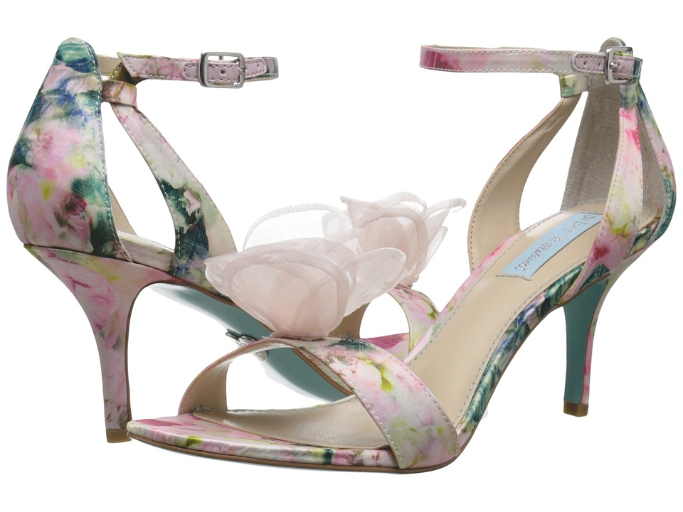 Blue by Betsey Johnson - Maddi (Floral Satin) Women's 1-2 inch heel Shoes