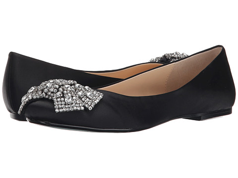 Blue by Betsey Johnson - Ever (Black Satin) Women's Dress Flat Shoes