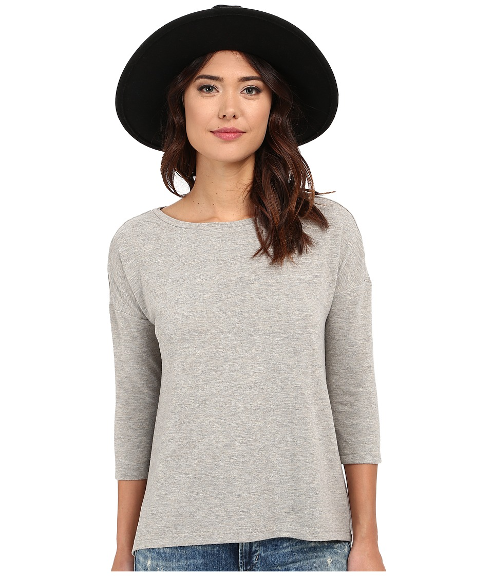BB Dakota - Larsen High-Low Hem Knit Tee (Light Heather Grey) Women's T Shirt