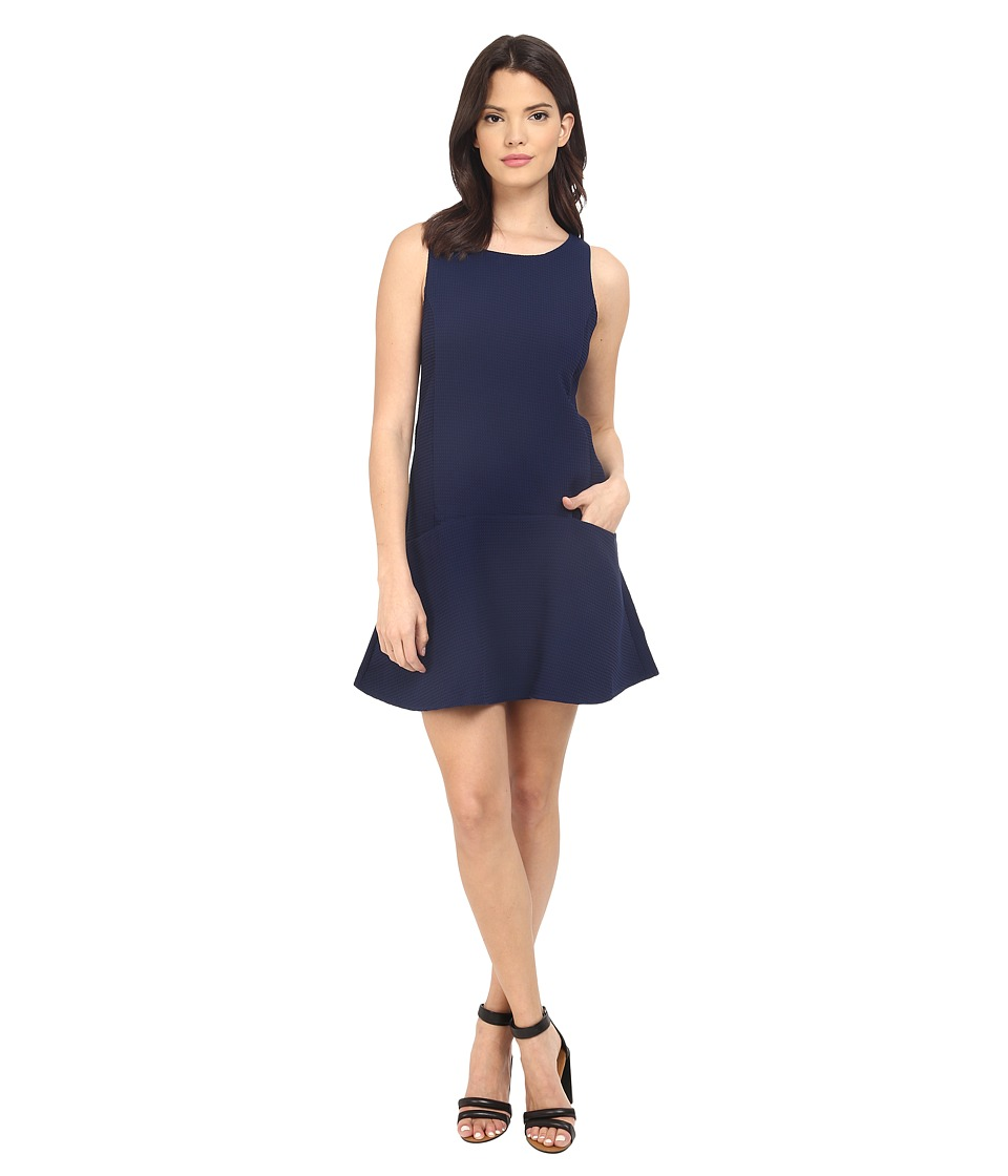 BB Dakota - Raven Tank Dress with Patch Pockets (Navy) Women's Dress