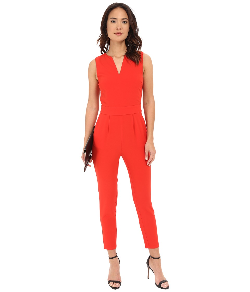 BB Dakota - Keegan Heavy Crepe Jumpsuit with Back Cut Out (Siracha) Women's Jumpsuit & Rompers One Piece