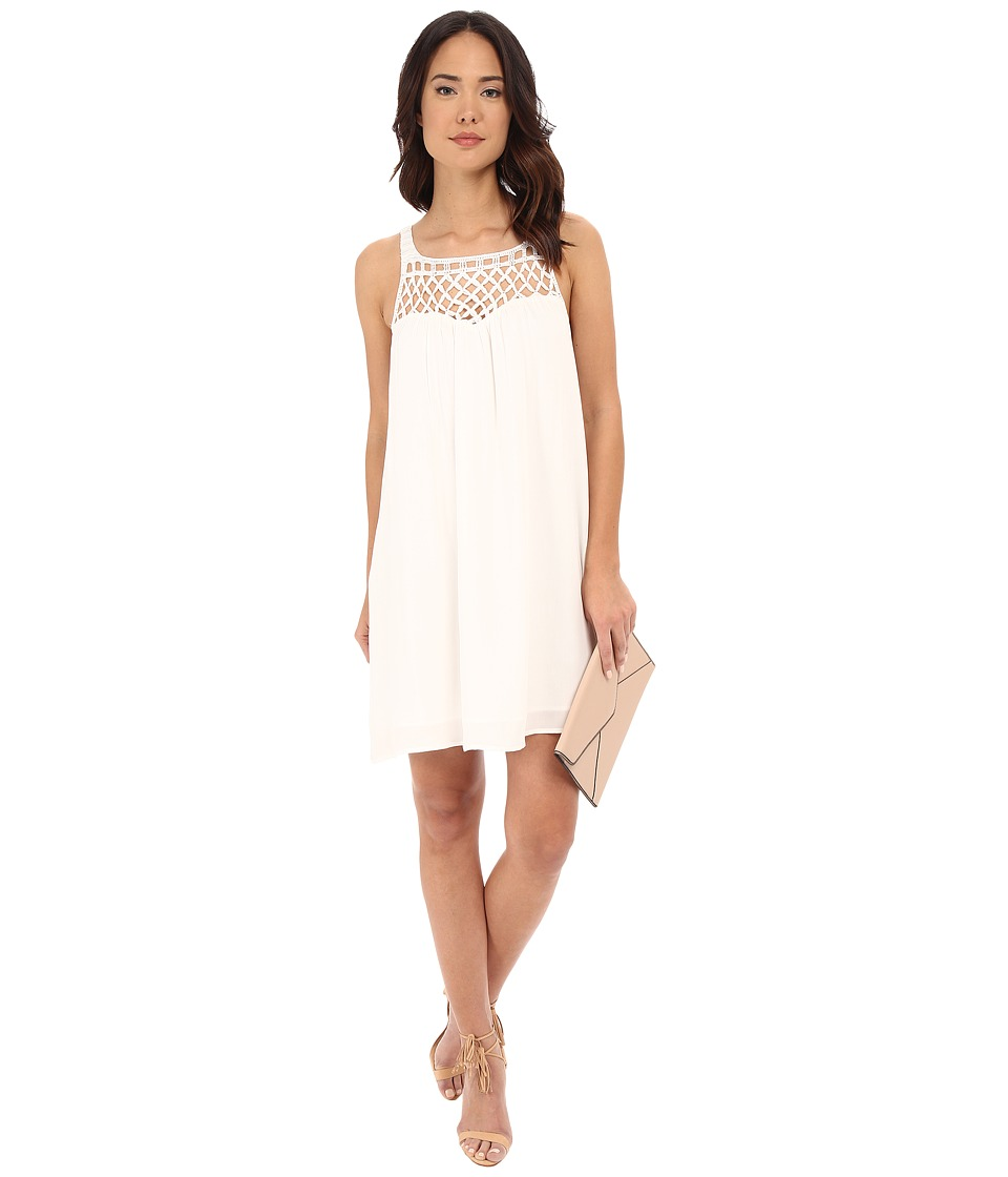 BB Dakota - May Crochet Yoke Rayon Dress (Ivory) Women's Dress