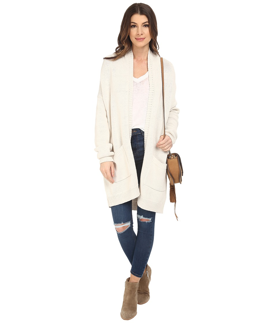 BB Dakota - Holmes Shawl Collar Long Cardigan (Oatmeal) Women's Sweater